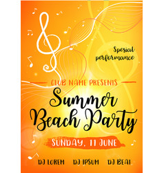 Summer beach party card vector