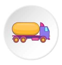 Tank truck icon flat style vector image vector image