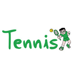 tennis sport symbol vector image vector image