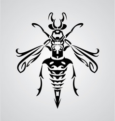 Tribal Bee vector image