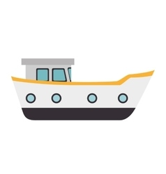 ship cargo boat vector image