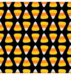 Candy corn happy halloween seamless pattern black vector