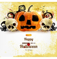Rustic halloween design vector