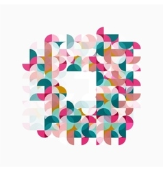 Abstract circle geometric composition isolated on vector