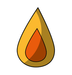 Fire flame icon vector