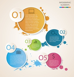 Watercolour circle infographic vector