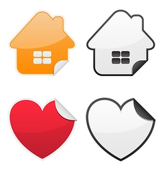 Shaped Glossy Stickers vector image