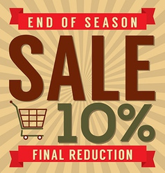 10 percent end of season sale vector