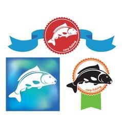 carp icon vector image