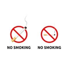 No smoking forbidden signs with realistic vector image