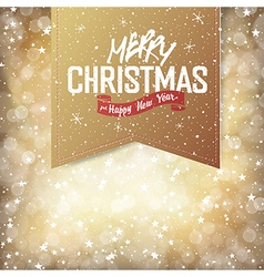 Christmas golden card vector