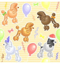Funny dogs poodles vector