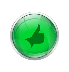 Green right button vector