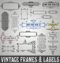 Vintage frames and labels vector