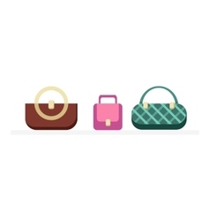 Set of handbags design flat isolated vector