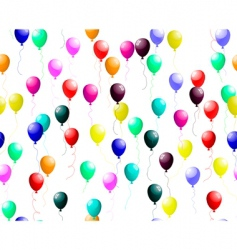 Seamless colourful balloons with glare vector