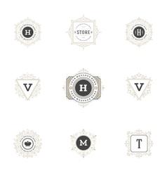 Royal logos design templates set vector