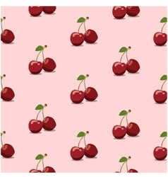 Seamless pattern cherry pink vector