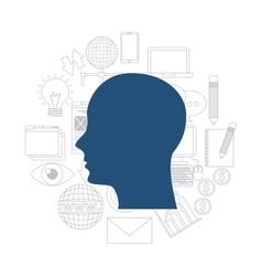 Human head icon blog concept graphic vector