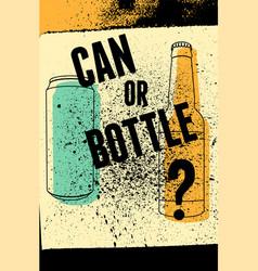 Beer typography vintage grunge poster vector
