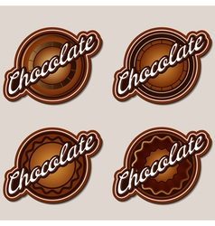 Chocolate labels design templates set vector image vector image