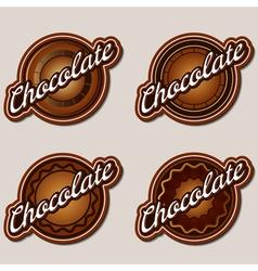 Chocolate labels design templates set vector