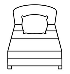Comfortable bed isolated icon vector