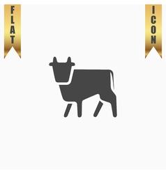 Cow flat icon vector
