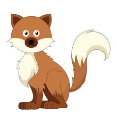 cute brown fox vector image