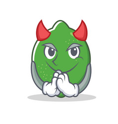 Devil lime mascot cartoon style vector