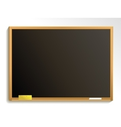 Empty blackboard with chalk and sponge vector image vector image