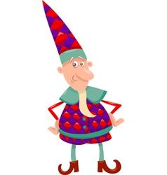fantasy christmas elf cartoon vector image vector image