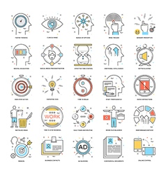 Flat Color Line Icons 21 vector image
