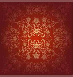 Flowers baroque background vector