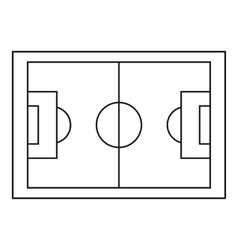 Football pitch icon simple style vector