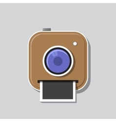 instant photo icon vector image vector image