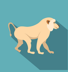 japanese macaque icon flat style vector image vector image