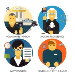 Justice Law and Order Legal Services Symbol Crime vector image vector image