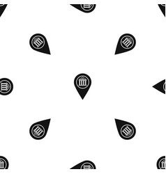 map pin pattern seamless black vector image