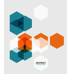Modern art hexagon abstract background vector