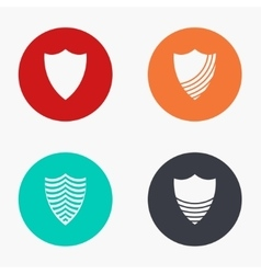 Modern shield colorful icons set vector