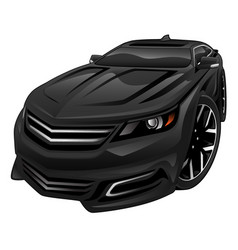 new car sedan cartoon vector image vector image