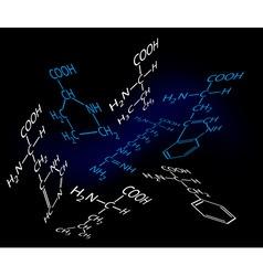 science molecules vector image vector image