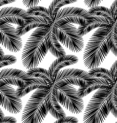 Seamless color palm leaves pattern flat style vector