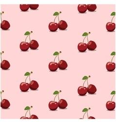 Seamless pattern cherry pink vector