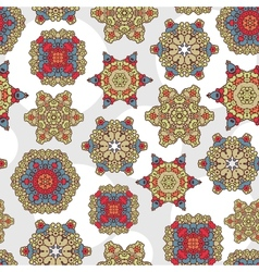 Seamless pattern with decoration vector image