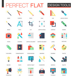 set of flat app design tools icons vector image vector image