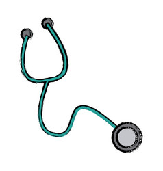 Stethoscope medical equipment pulse cardiology vector