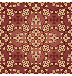 vintage seamless floral ornament in red vector image vector image