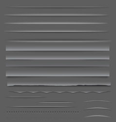Web Dividers and Rulers vector image vector image